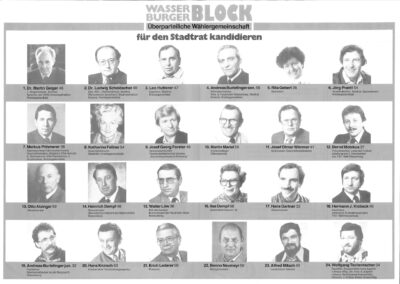 Wahlflyer Wasserburger Block von 1984