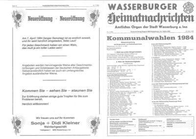 1984 Kommunalwahlen Wbger Heimatnachrichten