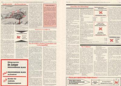 März 1984 Wählerzeitung, Wasserburger Block, Seite 2