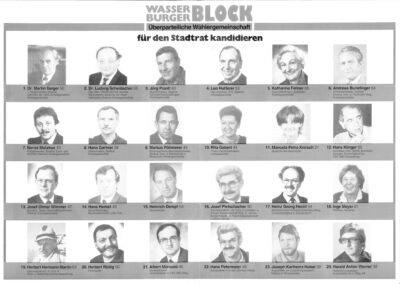 Wahlflyer Wasserburger Block von 1990