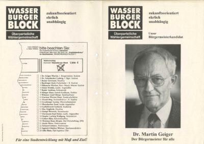 Wahlflyer Bürgermeisterkandidat , Seite 1