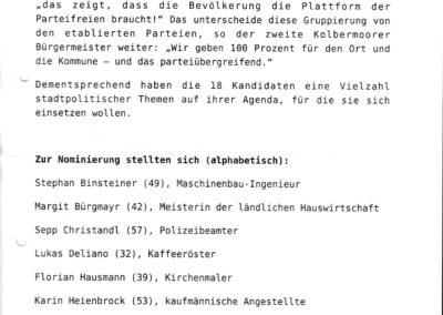 Bericht Stimme Donnerstag 05.12.2019 Seite II