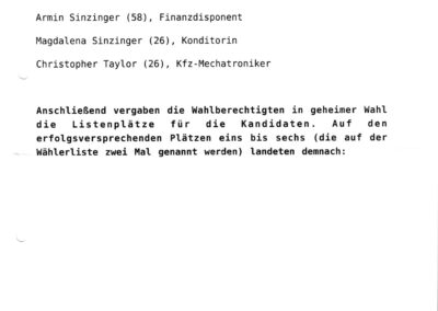 Bericht Stimme Donnerstag 05.12.2019 Seite III